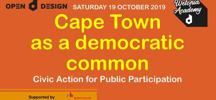 Open Design – Cape Town as a Democratic Common